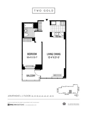 floorplan for 2 Gold Street #4905