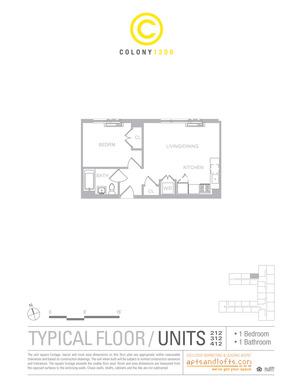 floorplan for 1209 Dekalb Avenue #312