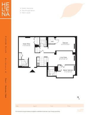 floorplan for 601 West 57th Street #4K
