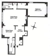 floorplan for 235 East 22nd Street #8L