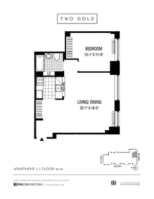 floorplan for 2 Gold Street #2702