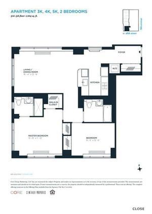 floorplan for 305 West 16th Street #5K