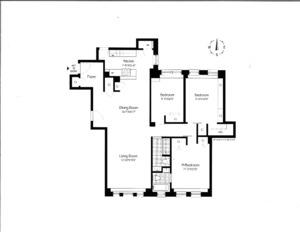 floorplan for 221 West 82nd Street #7E