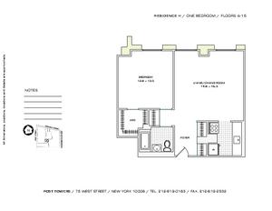 floorplan for 75 West Street #15H