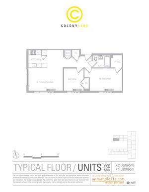 floorplan for 1209 De Kalb Avenue #309