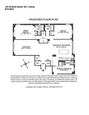 floorplan for 221 West 82nd Street #6G